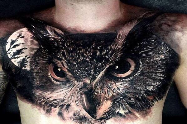 Что означает тату совы на груди