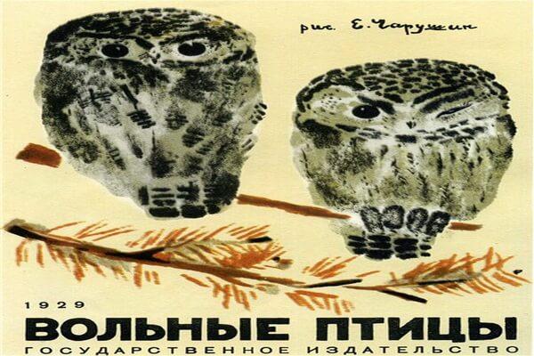 Совы в живописи - Серые неясыти на иллюстрации Евгения Чарушина