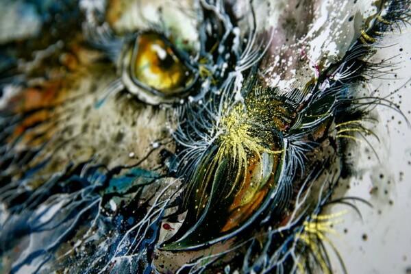 Совы в живописи - Ночная сова, Чен Йинчжье (Cheng Yingjie)