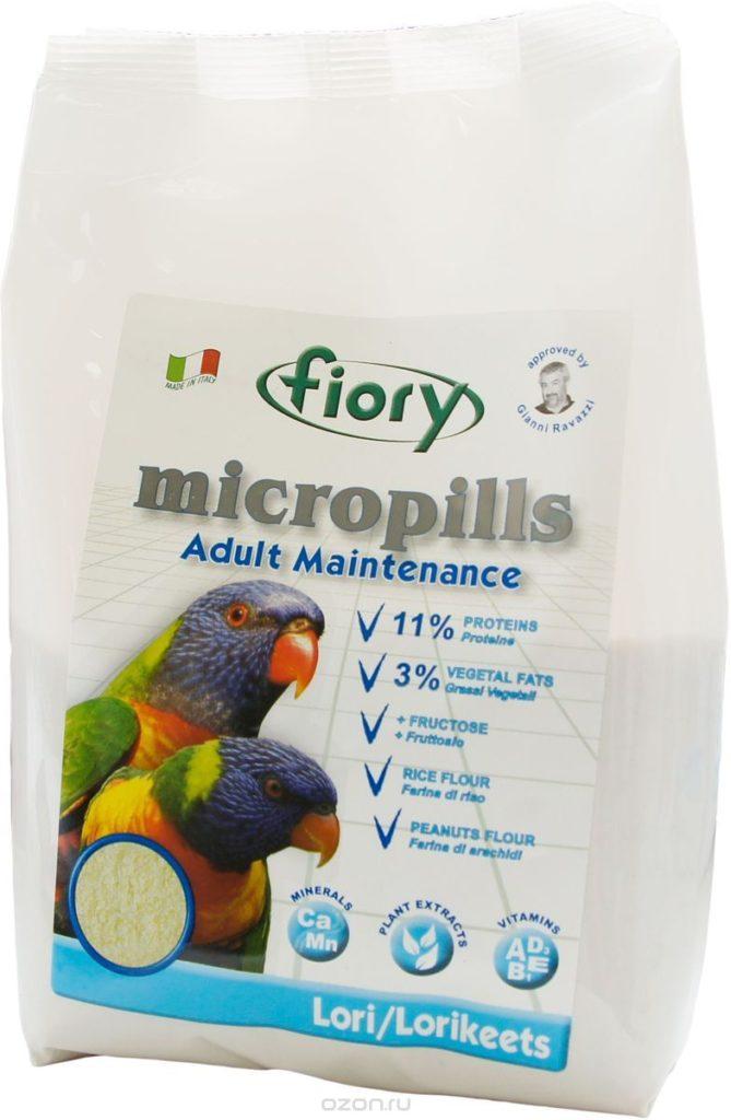 Корм для попугаев Fiory Micropills