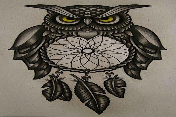 Что означает тату совы с ловцом снов