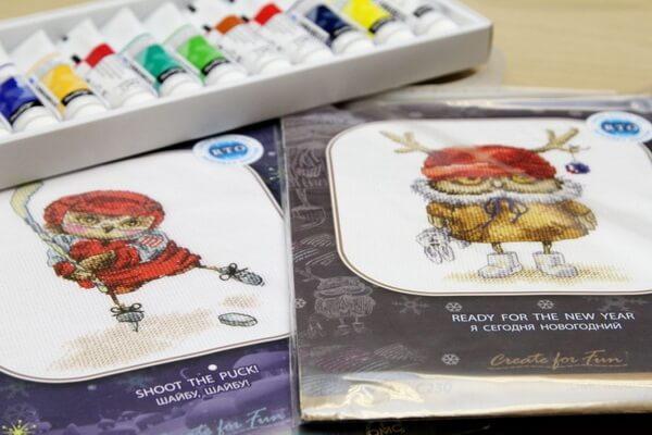 Вышивка с совами по рисункам Инги Пальцер