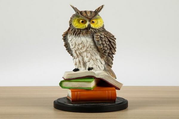 Статуэтка совы в доме как талисман учащихся
