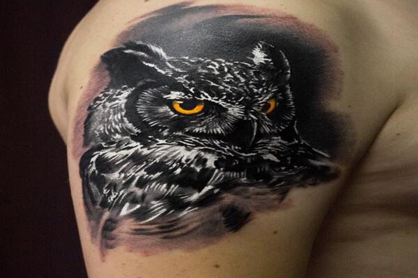 Татуировки филин для мужчин и женщин