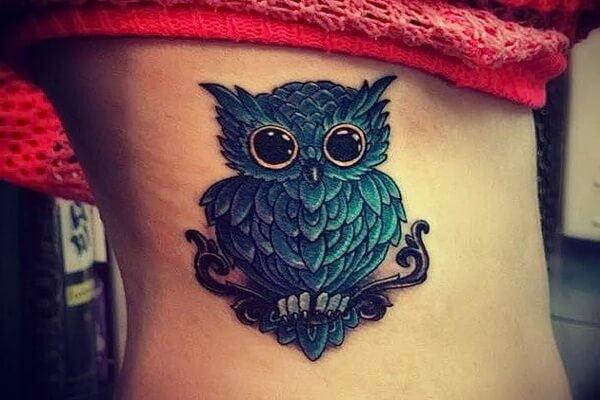 Татуировки филин для девушек