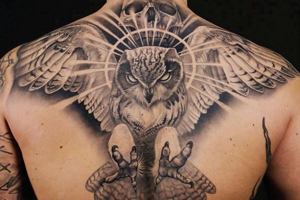 Основные значение татуировки филин