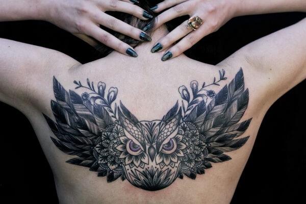 Что означает татуировка филин - основные значения для мужчин и женщин
